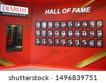 the hall of fame view of gor pb ... | Shutterstock . vector #1496839751