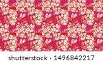 seamless pattern of lovely... | Shutterstock . vector #1496842217