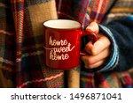 Cozy Fall Coffee Cup  Woman...