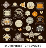 set of retro vintage labels.... | Shutterstock .eps vector #149690369
