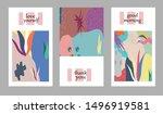 set of creative universal cards....   Shutterstock .eps vector #1496919581