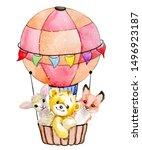 Animals In A Hot Air Balloon....