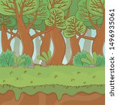 fairytale landscape scene... | Shutterstock .eps vector #1496935061