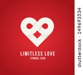 limitless love symbol icon or... | Shutterstock .eps vector #149693534