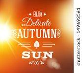 delicate autumn sun abstract... | Shutterstock .eps vector #149693561