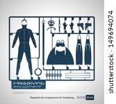 plastic model kits required set ... | Shutterstock .eps vector #149694074