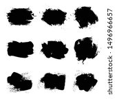 black abstract spots on the... | Shutterstock .eps vector #1496966657