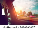 view from window car on road in ...   Shutterstock . vector #1496966687