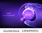 risk levels knob button.... | Shutterstock .eps vector #1496990951