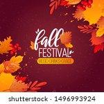 autumn fall season party ad... | Shutterstock .eps vector #1496993924