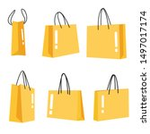 shopping bags on a white... | Shutterstock .eps vector #1497017174