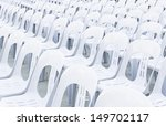 white plastic chairs in... | Shutterstock . vector #149702117