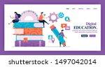 landing page vector design of...   Shutterstock .eps vector #1497042014