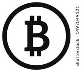 bitcoin crypto currency  icon ... | Shutterstock .eps vector #1497049121