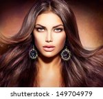 glamour beautiful woman with... | Shutterstock . vector #149704979