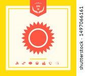 sun icon symbol. graphic... | Shutterstock .eps vector #1497066161