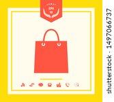 shopping bag symbol. graphic... | Shutterstock .eps vector #1497066737