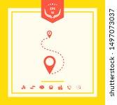 location symbol icon. graphic... | Shutterstock .eps vector #1497073037