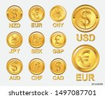 famous world currencies in... | Shutterstock .eps vector #1497087701