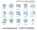 artificial intelligence line... | Shutterstock .eps vector #1497119444