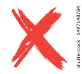 x marks .two red crossed vector ... | Shutterstock .eps vector #1497148784