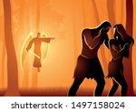 biblical vector illustration... | Shutterstock .eps vector #1497158024