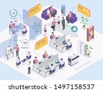 recruiting agency office... | Shutterstock .eps vector #1497158537