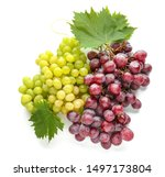 ripe sweet grapes on white... | Shutterstock . vector #1497173804