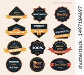 vector badges ribbon and labels ... | Shutterstock .eps vector #1497184697