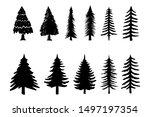 set of illustrations of pine... | Shutterstock .eps vector #1497197354