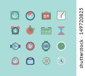 clock and time icon set | Shutterstock .eps vector #149720825