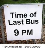 time of last bus sign | Shutterstock . vector #149720909