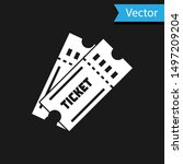 white ticket icon isolated on... | Shutterstock .eps vector #1497209204