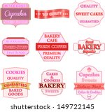 collection of vintage bakery... | Shutterstock .eps vector #149722145