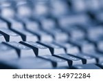 abstract dark keyboard... | Shutterstock . vector #14972284