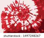 red tie dye rotate white... | Shutterstock .eps vector #1497248267