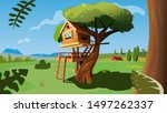 tree house illustration concept ...   Shutterstock .eps vector #1497262337