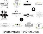 food and restaurant logo set  ... | Shutterstock .eps vector #1497262931