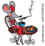 Cute Retro Mouse In A Paris...