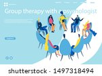 group therapy session ... | Shutterstock .eps vector #1497318494