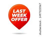 red vector pin on white... | Shutterstock .eps vector #1497323567