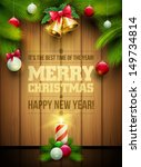 vector christmas objects and... | Shutterstock .eps vector #149734814