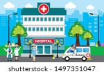 patient care concept. vector of ... | Shutterstock .eps vector #1497351047