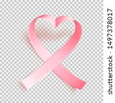 realistic pink heartshaped... | Shutterstock .eps vector #1497378017