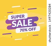 abstract super sale promotion... | Shutterstock .eps vector #1497420284