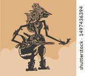 Javanese puppet illustration vector. Wayang Characters in the Mahabharata story
