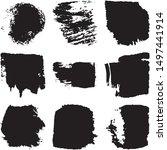 vector dry brush stroke grunge. ... | Shutterstock .eps vector #1497441914