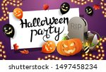 invitation horizontal purple... | Shutterstock .eps vector #1497458234