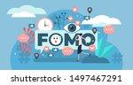fomo vector illustration. flat... | Shutterstock .eps vector #1497467291