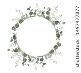 greenery  frame background with ...   Shutterstock .eps vector #1497477377